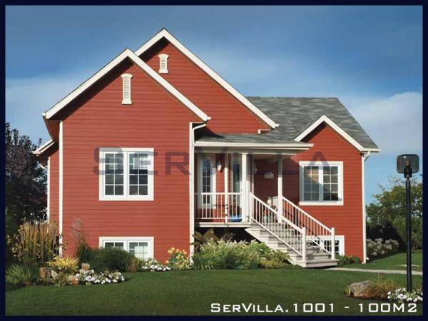 100 m2 Çelik Konstrüksiyon Villa Modeli-1