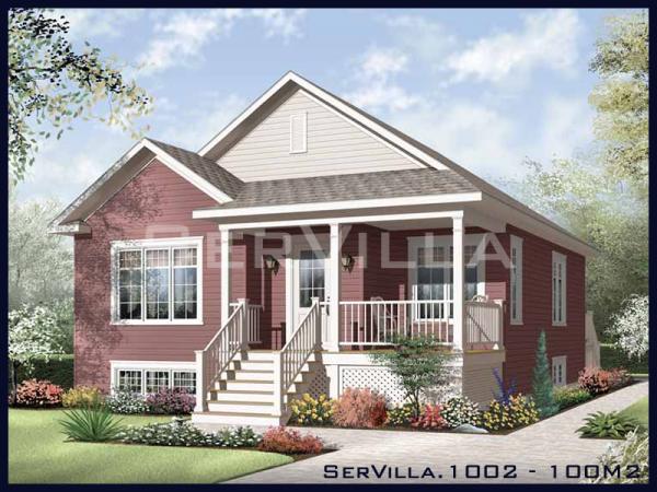 100 m2 Çelik Konstrüksiyon Villa Modeli-2