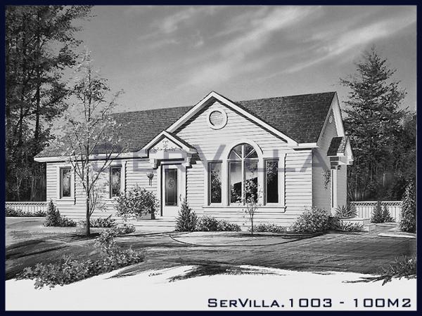 100 m2 Çelik Konstrüksiyon Villa Modeli-3