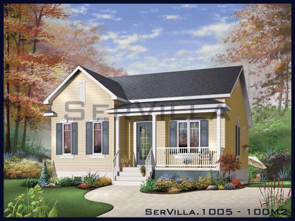 100 m2 Çelik Konstrüksiyon Villa Modeli-5