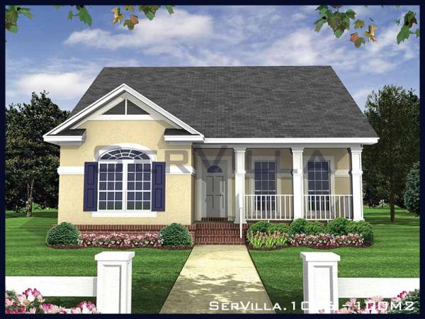 100 m2 Çelik Konstrüksiyon Villa Modeli-6