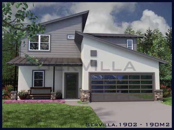 190 m2 Çelik Villa Modeli-2