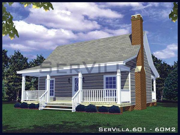 60 m2 Çelik Konstrüksiyon Villa Modeli-1