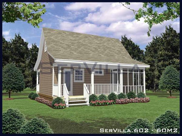 60 m2 Çelik Konstrüksiyon Villa Modeli–2