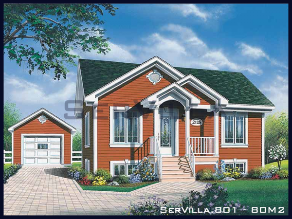 80 m2 Çelik Konstrüksiyon Villa Modeli-1