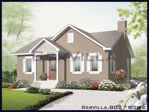 80 m2 Çelik Konstrüksiyon Villa Modeli-2