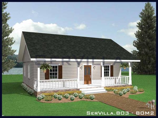 80 m2 Çelik Konstrüksiyon Villa Modeli-3